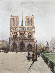 Eugène Galien-Laloue Paris Notre-Dame Flower-Lady - Kategória: Festmények párizsi utcák Eugène Galien-Laloue - Wikimedia Commons