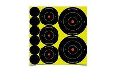 Birchwood Casey Shoot-N-C Target, Round Bullseye, Assortment Kit, 72 of 1 inch, 36 of 2 inch, and 24 of 3 inch Targets