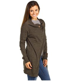 The North Face Hideaway Sweater Wrap Heather Grey - Zappos.com Free Shipping BOTH Ways