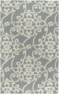 Surya Gray Cosmopolitan Rug (Rosenberry Rooms) - perhaps a much cheaper alternative to the Pottery Barn rug I love