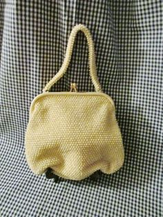 Ivory Corde-Beade Dressy Evening Bag / Purse by trackerjax on Etsy