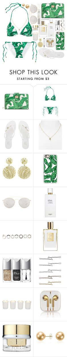 """""""Outfit 176"""" by holass ❤ liked on Polyvore featuring Dolce&Gabbana, Melissa, Kate Spade, Theo Fennell, Casetify, Mykita, Hermès, Iosselliani, Christian Dior and Forever 21"""