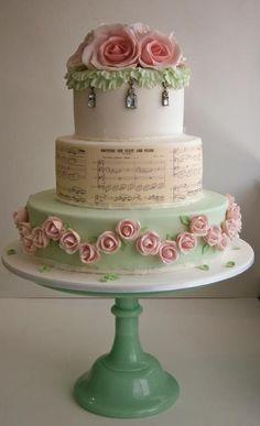 roses & music...pretty vintage