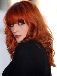 Florence Welch #red #copper #colour #hair #hairtrend #powerhair #nak #nakhair