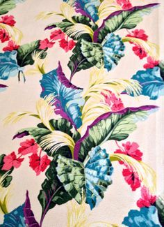 Vintage Tropical Florals