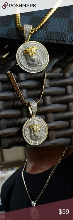Black Egyptian god Ra Falcon Pendant White Braided Leather Choker Necklace