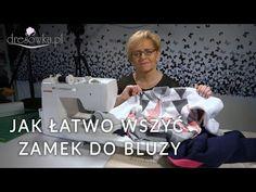 Wszywanie zamka do bluzy dresowej - YouTube Janome, Sewing Clothes, Youtube, Pattern, Handmade, Inspiration, Inspire, Artists, Accessories
