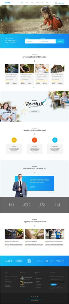 Union is beautifully design responsive 2in1 #HTML template for #charity and non-profit #organization website download now➩ https://themeforest.net/item/union-charity-responsive-html5-template/18844066?ref=Datasata