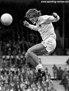 23rd August 1975. Leeds United striker Allan Clarke against Ipswich Town.