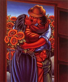 Simon Silva (1961, Mexican)  I remember seeing this series of paintings as a little girl and adored them.
