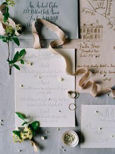 Botanical Wedding Flower Inspiration| Invitation Suite by Signora e Mare