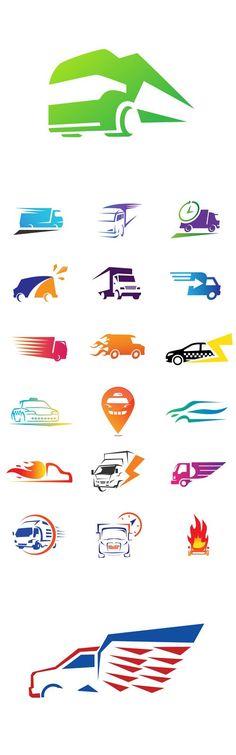 Vector Modern Delivery Logo Symbols