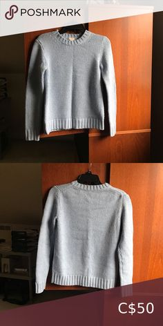 Powder blue J crew sweater NWOT Never worn lovely colour and it is a more preppy silhouette J. Preppy, J Crew, Powder, Scoop Neck, Sweaters For Women, Silhouette, Colour, Pullover, Best Deals