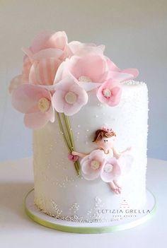 40 Ideas For Birthday Cake Girls Kids Flowers Girly Cakes, Cute Cakes, Pretty Cakes, Beautiful Cakes, Deco Cupcake, Cupcake Cakes, Smash Cakes, Baby Cakes, Mini Cakes