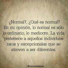 Atrevete a ser diferente