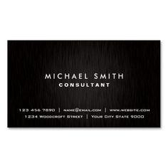 306 best photographer business cards images on pinterest lyrics elegant professional plain black modern metal business card colourmoves