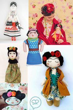 Frida Kahlo dolls http://knuffelsalacarteblog.blogspot.nl/