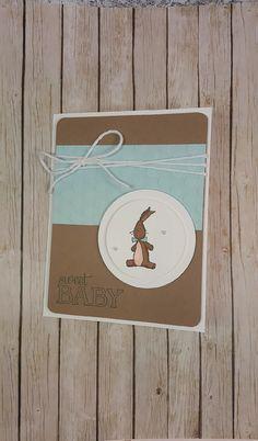 Sweet Baby Greeting Card-Embossed-Handmade-Adorable di PipsyCraft