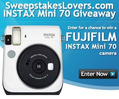 In December, we are teaming up with FUJIFILM INSTAX to bring you the INSTAX Mini 70 Giveaway! Whether you'd love to snap more selfies or just want to capture your best family moments in an old-fashion way, we want to help by giving you the chance to win a FUJIFILM INSTAX Mini 70 camera!