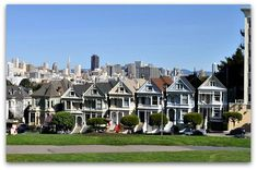 "Alamo Square San Francisco- This historical district is also popular for its spectacular views of downtown and Victorian houses, some of which are called painted ladies. The most famous set of Victorian painted ladies is shown in the picture below - they are also called the ""Seven Sisters of Alamo Square""."