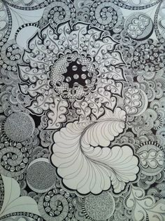 I just love new black sharpie pens and blank paper... they combine together to create anything and everything...by Sue Patten