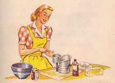 Mother bakes a cake to please everyone, who requested both brown and white cakes. A marble cake! On Cherry Street, a Ginn Basic Reader by Odille Ousley and David H. Illustrated by Meg Wohlberg. Images Vintage, Vintage Ads, Retro Images, Vintage Food, Vintage Girls, Vintage Stuff, Vintage Prints, Cooking Icon, Cooking Recipes
