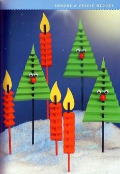 Idee di Natale per lavoretti per Bambini. Christmas ideas for children's chores. Christmas decorations made with paper that require a pinch of craftsmansh Noel Christmas, Christmas Activities, Christmas Crafts For Kids, Christmas Projects, Winter Christmas, Holiday Crafts, Christmas Gifts, Christmas Decorations, Christmas Ornaments