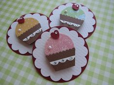 Pink Cupcake Embellishments by vsroses.com, via Flickr