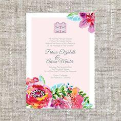 Diy printableeditable chinese wedding invitation card template diy printableeditable chinese wedding invitation card by imleaf stopboris Gallery