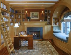 beautiful (if a trifle small) library--esp the window seat!