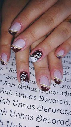 Pink Nail Designs, Gel Designs, Xmas Nails, Black Polish, Manicure E Pedicure, Glitter Nail Art, Flower Nails, Beautiful Nail Art, Nail Tips