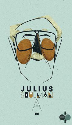 Illustrator/designer Fantastic Hysteria portrait of the great modernist photographer Julius Shulman