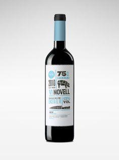 Infographic wine label