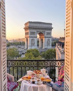 Breakfast with views of the enduring Arc de Triomphe in western Paris. 😍🇫🇷 Photograph by Paris, France Breakfast with views of the iconic Arc de Triomphe in western Paris. 😍🇫🇷 Photo by A photograph posted by HOUSES 🔑 ( on Oh The Places You'll Go, Places To Travel, Travel Destinations, Romantic Destinations, Oh Paris, Paris France, Triomphe, Travel Aesthetic, Aesthetic Outfit