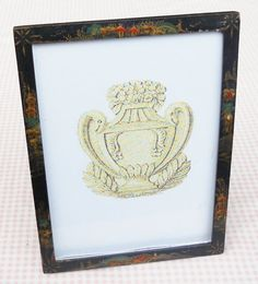 Black Oriental Hand Painted Picture Frame  by RosebudsOriginals, $15.95