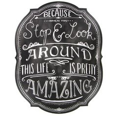 Because when you stop and look around, this life is pretty amazing!
