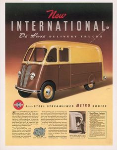 The all-steel streamlined METRO bodies! Just brilliant. #advertising