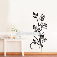 Me encanto para pintar una de sus paredes en tono gris y - Decoracion con mariposas ...