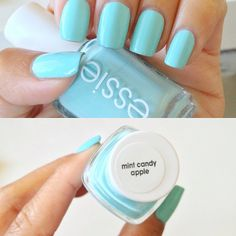 the perfect mint. essie mint candy apple. I've been looking for a good mint!