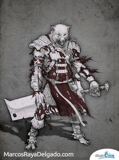 Fenris, el Hombre Lobo licántropo. http://www.DibujarBien.com