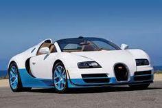 blue and white bugatti veyron