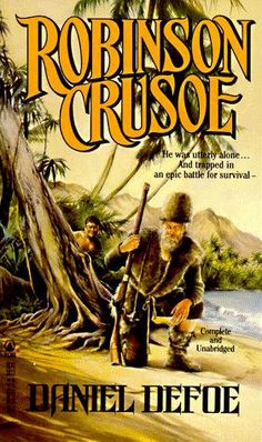 Robinson Crusoe by Daniel Dafoe: Robinson Crusoe deals with mastery and morality. It addresses the ability of mankind to master his surroundings through hard work, and patience and faith, which eventually enable him to survive on an unknown island and able to cope with the difficult terrain, less-than-friendly natives and basically every wicked trial that comes his way.
