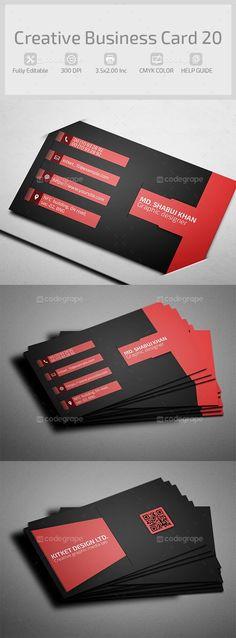 Creative Business Card 20 by hazratali2020.deviantart.com on @DeviantArt