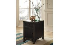 Black Gavelston Chairside End Table View 1