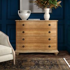 Furniture Classics Reclaimed Pine bow front 4 drawer chest with bun feet 7 Drawer Dresser, Dresser As Nightstand, Chest Of Drawers, Dressers, Dresser Ideas, Nightstands, Hooker Furniture, Diy Furniture, Modern Furniture
