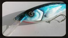 Custom Lure CrankBait 10.6in 6.4oz Wood Handmade Muskie Pike Bass Surf MegaLures
