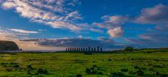 Tongariki Ahu, Easter Island, Chile