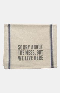 'We Live Here' Tea Towel