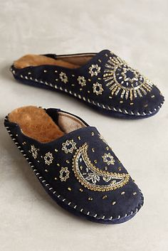 Jasper & Jeera Celestial Slippers #anthropologie #anthrofave
