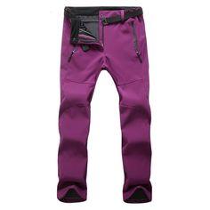Women Hiking Outdoor Pants Thermal Pant Waterproof Fleece Termico Mujer Camping Climbing Pant Ski Fishing Pants for Women